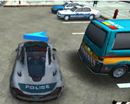 Skill 3D parking police station online játék